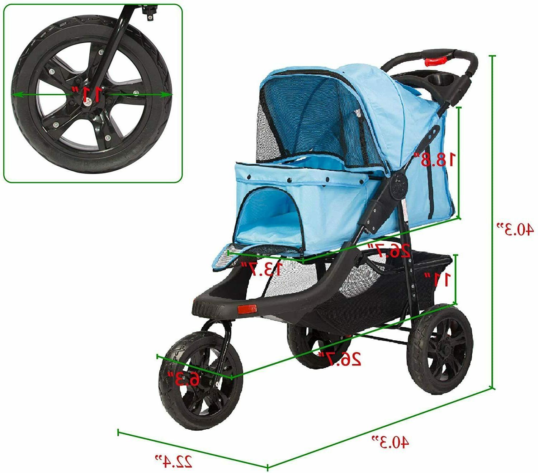 VILOBOS Wheel Stroller Folding Travel w/ Cup Holder