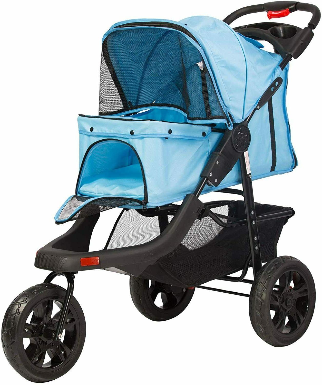 3 wheel pet stroller cat dog jogger