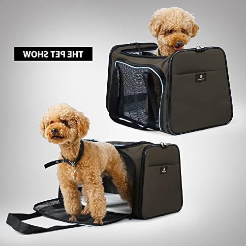 X-ZONE Pet Collapsible Pet Travel Carrier for Medium and