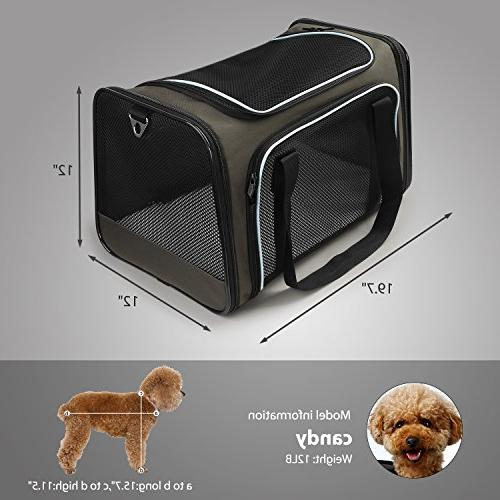 X-ZONE Approved Pet Carriers,Soft Pet Carrier Medium Puppy and