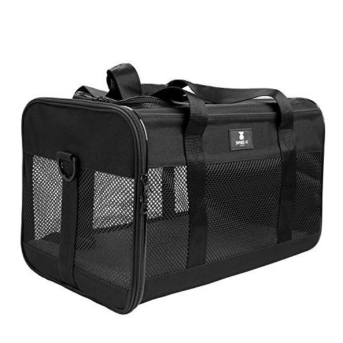 X-ZONE Soft-Sided Pet Carrier for and Black