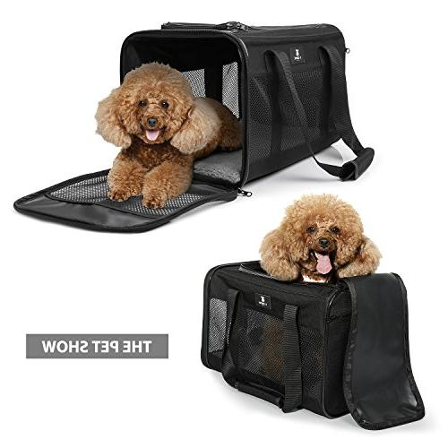 X-ZONE PET Airline Soft-Sided Travel for Dogs Black