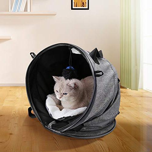 Docamor Premium Soft-Sided Cat Cage with 2