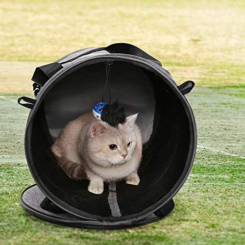 Cat Travel Bag Cage Bed Tunnel 2 Mat Toys for Small