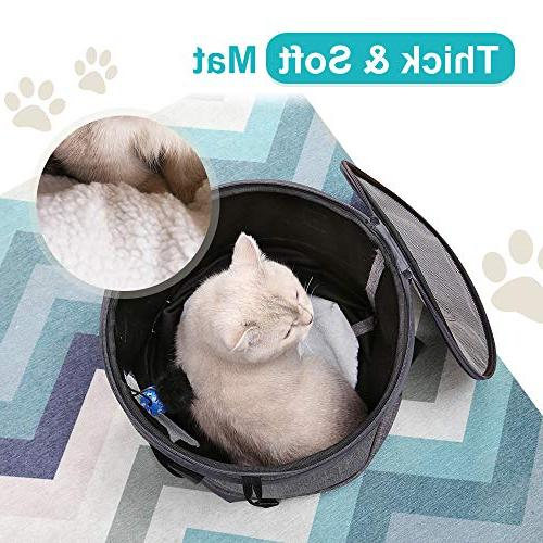 Docamor Premium Cat Travel Bag Cage Bed 2 Ventilation,Cotton Toys Sized