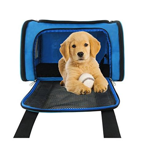 """Mr. Soft 17.5X11X11 Travel with Soft Strong 1/4"""" Seatbelt & Luggage Perfect Small"""