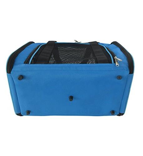 Mr. Peanut's 17.5X11X11 Soft Padded Strong Wood Base, Seatbelt Luggage Perfect Cats Small