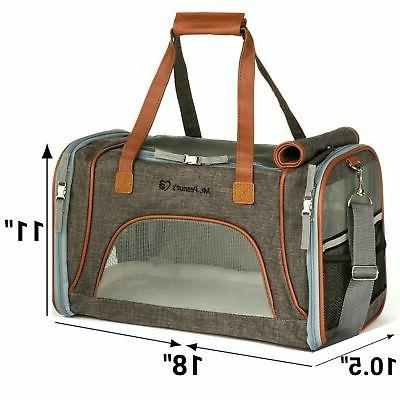 Mr. Peanut's Airline Approved Soft Sided Pet Carrier, Low Pr