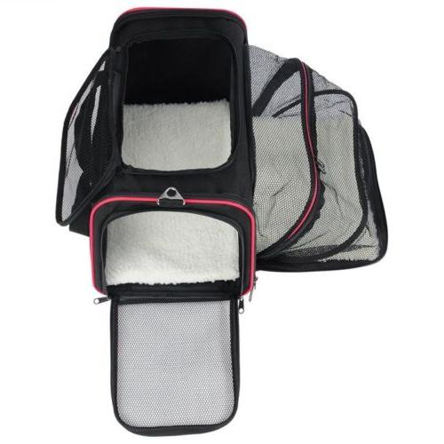 Black Pet Dog Cat Tote Cage Kennel