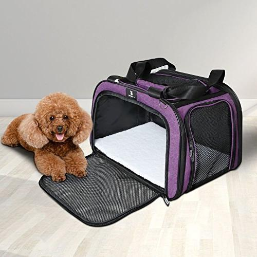 X-ZONE PET for and Cats, Airline Approved Travel Carrier,Portable Kennel for Puppies