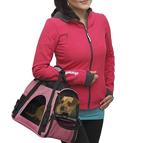 OxGord Comfortable Carrier Pet Carrier Rose Wine