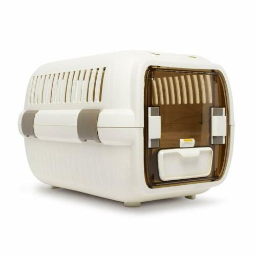 cat Pet Travel Crate Lightweight Pet Carrier Plastic &Wire K
