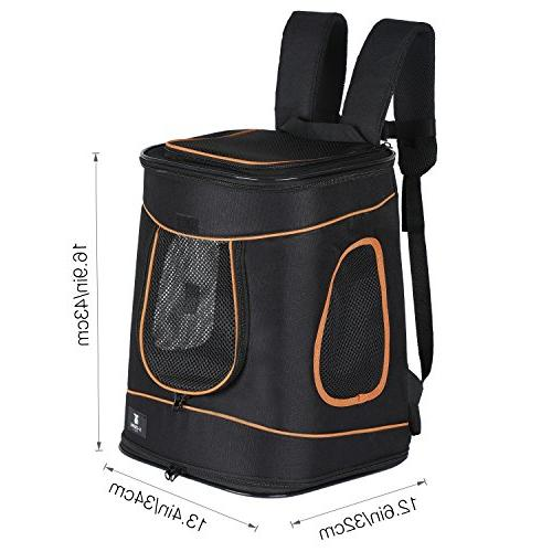 X-ZONE PET Cat Hands Carrier Sided Camping Backpack Carriers,Hold Pets Up to 15