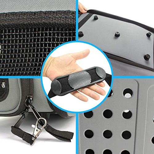 FRiEQ Hard Pet Carrier Strap Travel Kennel Cats, Dogs & Rabbits
