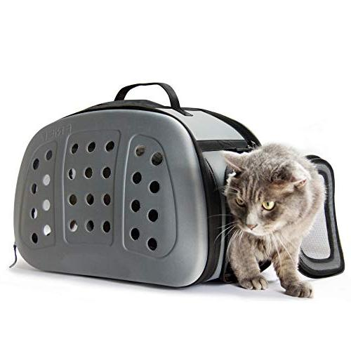 foldable hard cover pet carrier