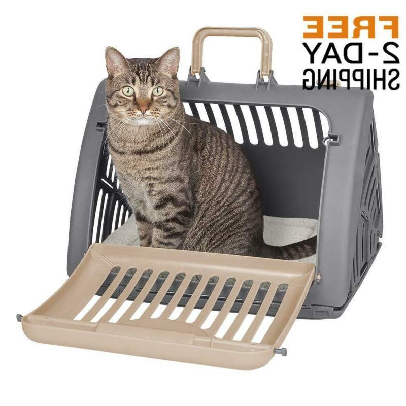 Sportpet Designs Foldable Travel Cat Carrier - Front Door Pl