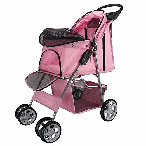 Paws & Pals Stroller Cat/Dog Folding Carriage,