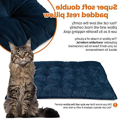 PetLuv Cat Premium & Carrier & Travel - Locking Carry Straps Belt Lock Anxiety