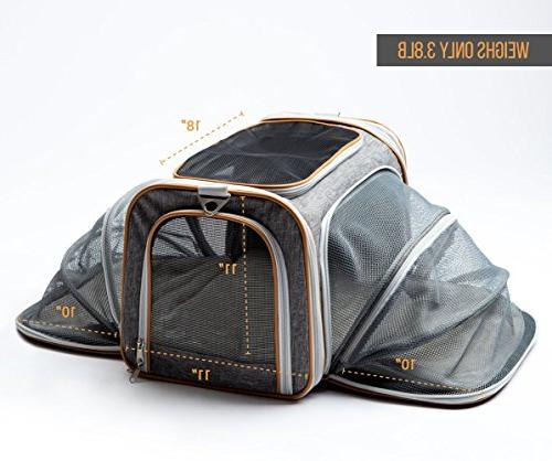 PETYELLA Luxury Carrier + Blanket & Bowl - Airline Approved Innovative - Dog