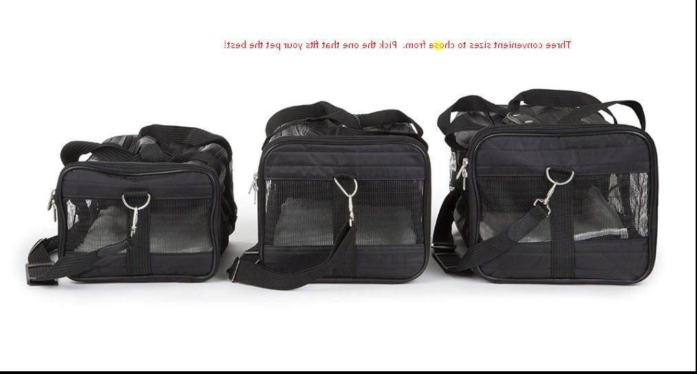 original deluxe pet carrier 3 sizes black