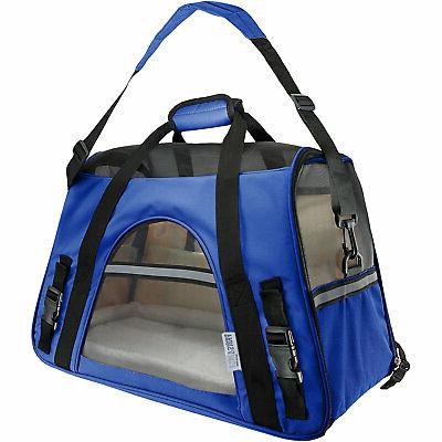paws and pals dark blue pet carrier