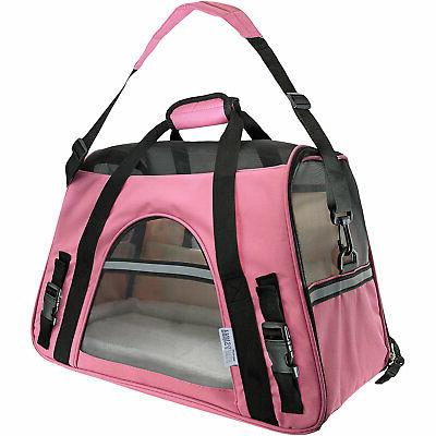 paws and pals pink pet carrier