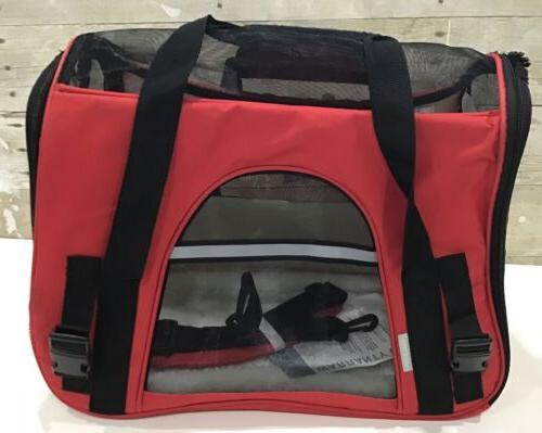 Paws Pet Carrier Red Dog Comfort