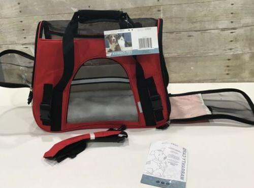 paws and pals sm pet carrier red