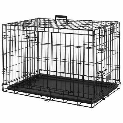 Pet Cage 24 Inch Dog Cat Puppy Animal 1 Door Folding Trainin