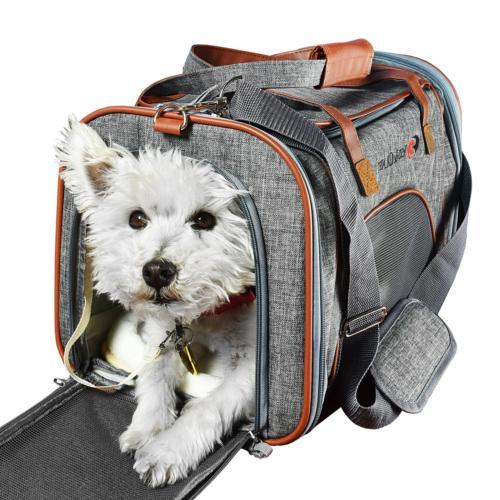 298f2ee2540 Pet Carrier Airline Approved Side Loaded Travel Bag