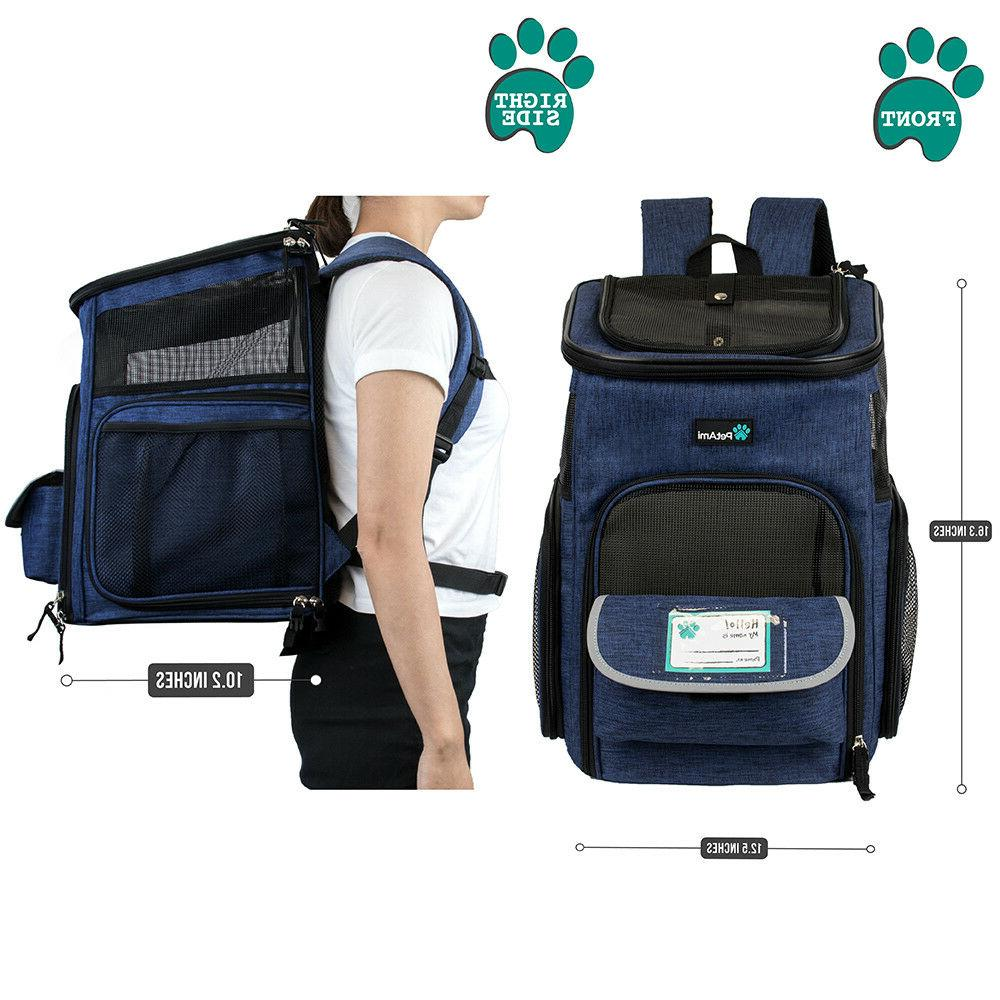 Pet Carrier Backpack Small Cat Dog 4Way Breathable Travel Hiking