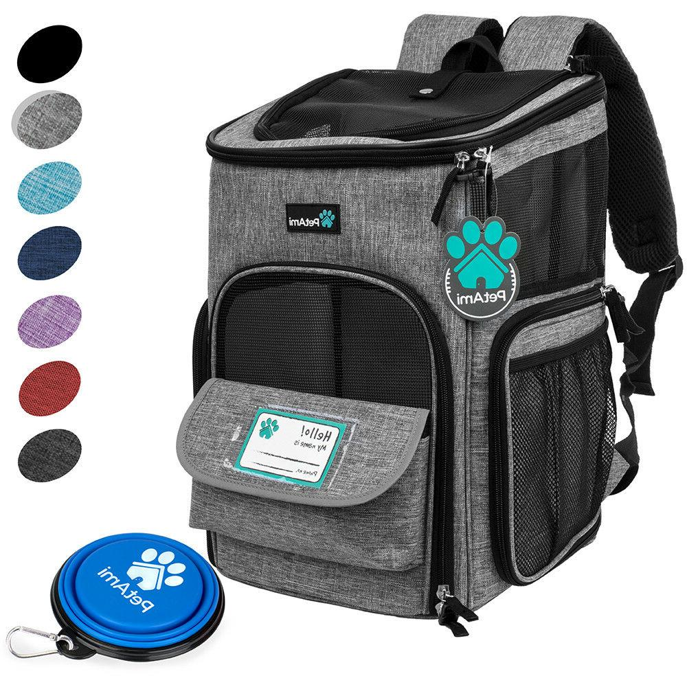 Pet Carrier Backpack Small Dog Puppy 4Way Hiking