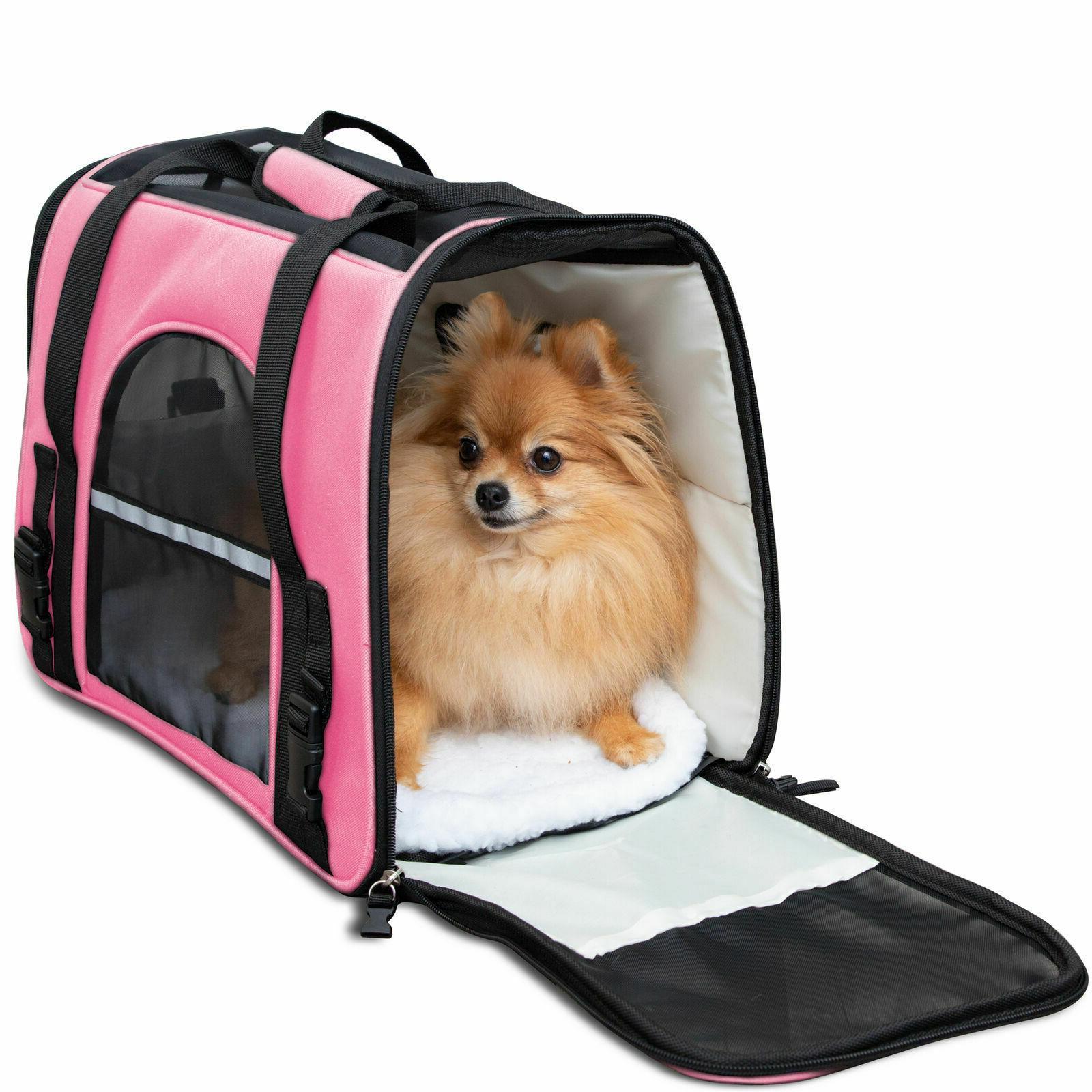 Pet Bag Travel Case Airline Approved Sided Comfort for Cat Dog