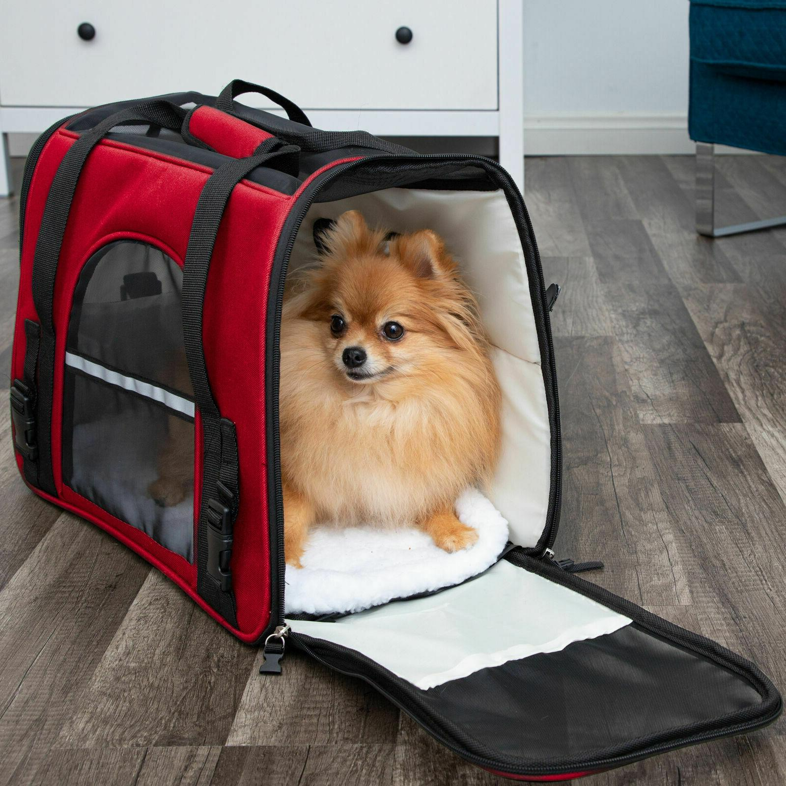 Pet Carrier Case Airline Approved Sided Comfort Bag Cat