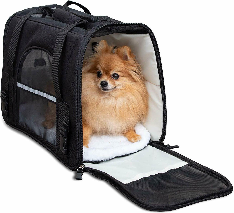 Pet Carrier Bag Case Approved Sided Comfort Cat