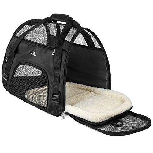 PetTech for Small Kittens, Pets, Travel Friendly, Soft Dog Bed, Pet with and Comfortably