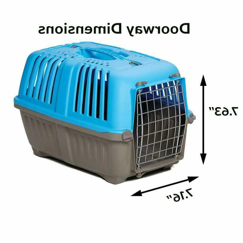 Pet Carrier: Dog Carrier, Animal In Blue|