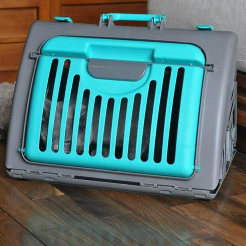 Foldable Travel Carrier Front Collapsible Pet Carrier Plastic
