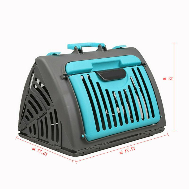 Foldable Carrier Front Collapsible Pet Carrier Plastic Stock