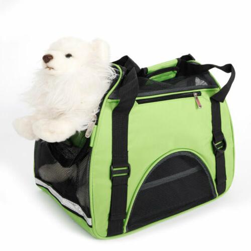 Pet Carrier Soft Sided Cat Dog Comfort Travel Tote Bag Handb