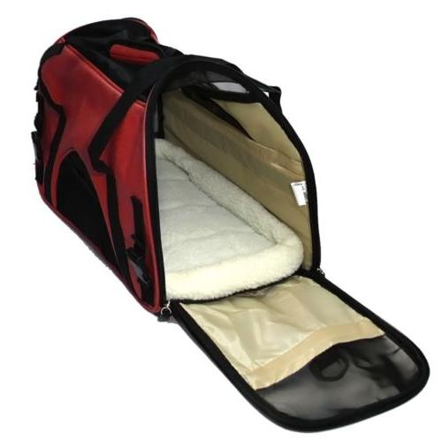 Pet Carrier Large Crimson Red Travel FAA Approved