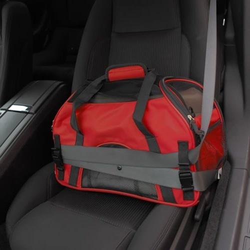 Pet Carrier Large Cat Dog Comfort Crimson Travel FAA