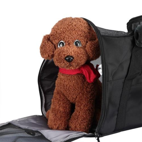 Pet Carrier Soft Large Cat Dog Rose Travel Approved