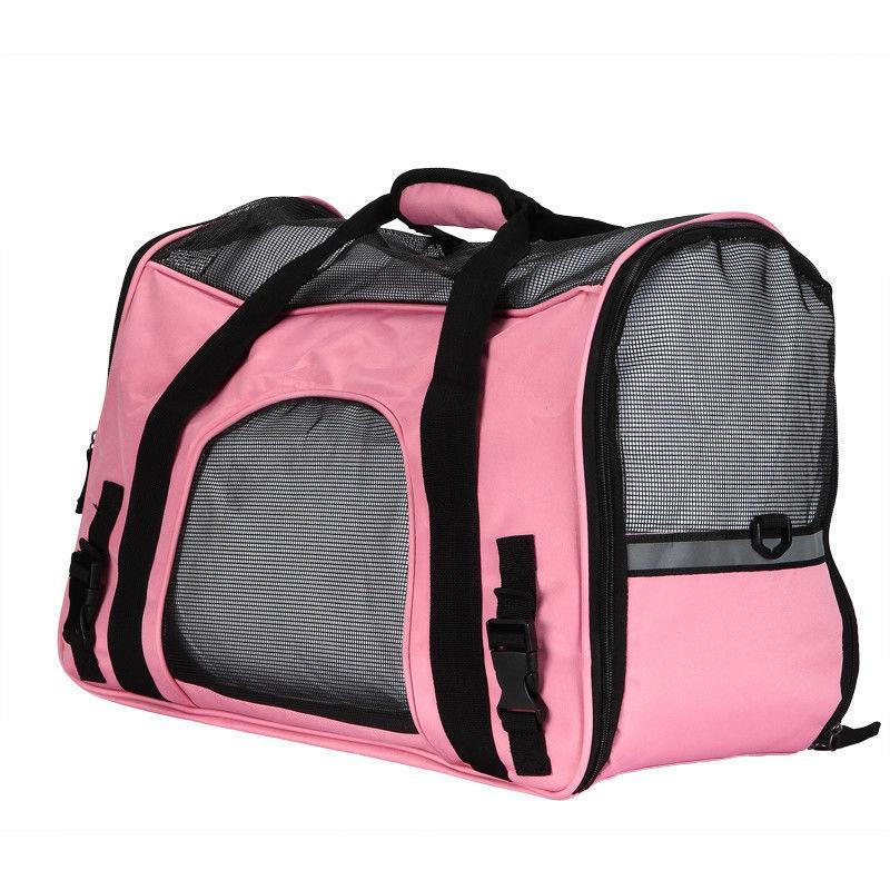 Pet Soft Sided Large Rose Black Bag Travel