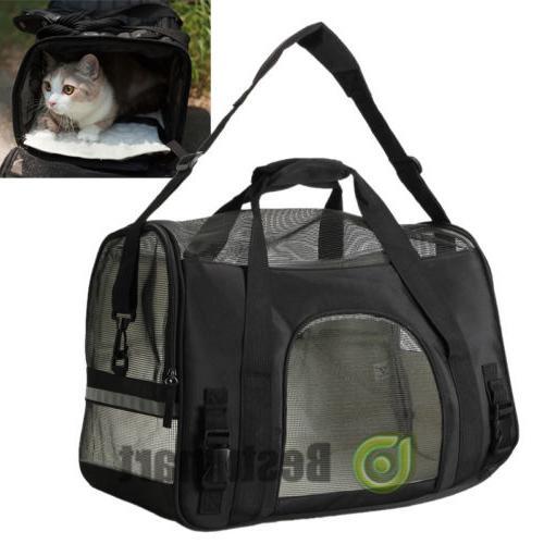 Pet Carrier Soft Large Cat Dog Rose Wine Black Bag