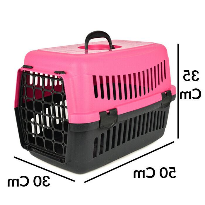 Pet Carrier Travel Crate Cat Small Dog 2 Piece Plastic Hard