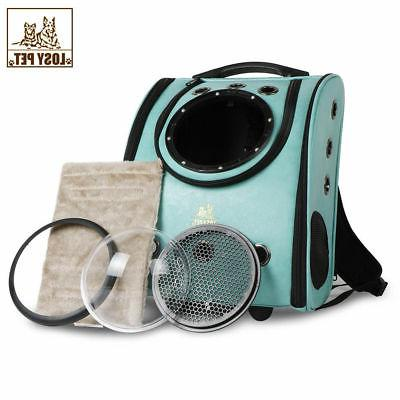 Dog Leather Backpack Pet Carrier Breathable USA