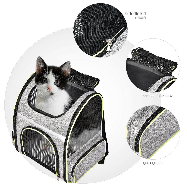 pet dog cat carrier backpack adjustable shoulder