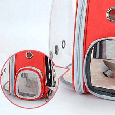 Pet Portable Carrier Space Capsule Travel Cat Bag Transparent