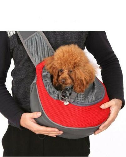 Pet Puppy Dog Mesh Sling Carrier Tote Bag